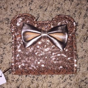Disney Loungefly Minnie Mouse Rose Gold Wallet